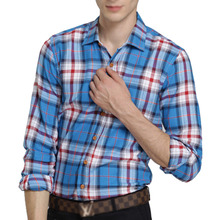 Hot Sale Men's Slim Fit Long-Sleeve Plaid Shirt Casual Shirts Male Cotton Dress Shirts Tuxedo Shirts(China)