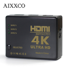 AIXXCO 4K*2K 1080P HDMI Video Audio Signal Splitter 3 Input 1 Output Switch Switcher For DVD/PS4/HDTV