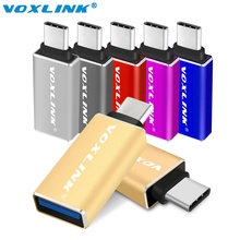 VOXLINK USB-C 3.1 Type C Male to USB 3.0 Female Adapter Sync Data Hub For MacBook 12inch/Nokia N1/Google Chromebook Oneplus Two