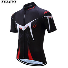 TELEYI Black Pro Cycling jersey Men Bike Jersey top Ropa Ciclismo clothing clothes male MTB bicycle Top Breathable - Store store
