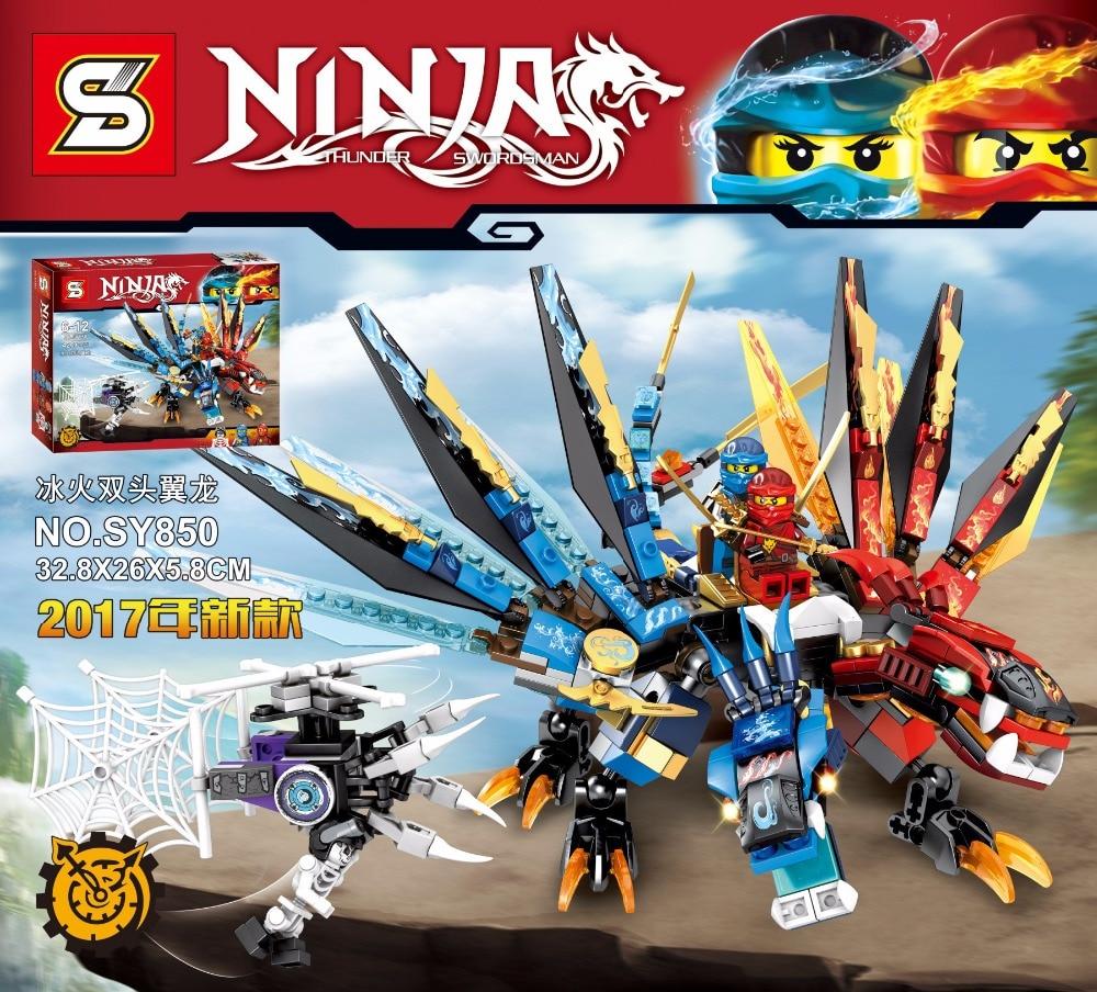 2017 SY850 Ninjagoes double pterosaur flying dragon  Blocks Building blocks action  toys for children gift<br><br>Aliexpress