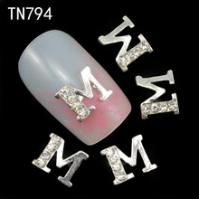 10pc 2015 Alloy Glitter 3d Nail Art Rings Decorations with Rhinestones,Alloy Nail Charms,Jewelry Supplies TN794