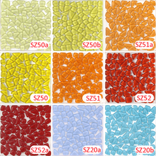 200g Crystal Glass Free Stone yellow Mosaic tile_ backsplash kitchen wall tile sticker bathroom floor feet massage tile(China)