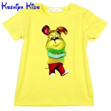 kseniya kids brand children t shirts short sleeve 95% cotton girl t shirt boys t shirts cartoon print kids clothes 2-12y