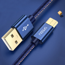 SPEDU Portable Mobile Phone Charger USB Travel Charger Samsung Xiaomi huawei Tablet Fast Charging Denim micro usb cable