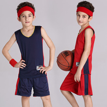 Reversible Custom LOGO Basketball Set/Suit 2XS-3XL Children Boy Elementary School Students New Jersey Custom Breathable Training