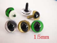 60pcs 15 mm cat eyes- animal eyes doll parts for amigurumi plush toy Each color 20 PCS(China)
