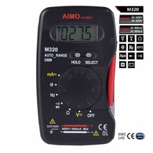 AIMO M320 Pocket size LCD Digital Multimeter DMM Frequency Capacitance Testers Measurement with Data Hold Auto Range Multimetro(China)