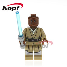 Single Sale Mace Windu Clone Soldiers Red Snowtrooper Naboo Guard Star Wars Building Blocks Children Toys Gift Model PG762(China)