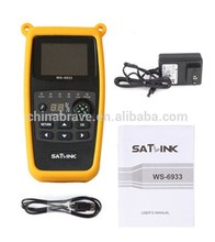 satlink satellite finder meter easy to search the satellite signal ws 6933 FTA with light and compass hot sale in Africa market