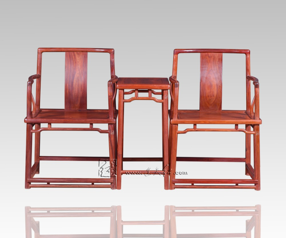Southern Mandarin Chair And Small Tea Table 3-pieces Sets Living Room  Teapoy Antique Rosewood - Small Antique Chair Antique Furniture
