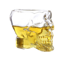 Hot cake Special Transparent Crystal Skull Head Shot Glass Cup For Whiskey Wine Vodka Home Drinking Ware glass bottle