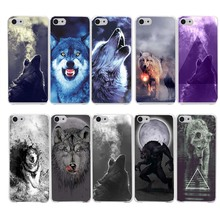 129R Classic Cool Wolf Hipster Print Hard Clear Case Transparent Cover for iPhone 4 4s 5 5s SE 6 6s 7 Plus