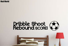 Mad World-FOOTBALL Dribble Shoot Rebound Scorel Wall Art Stickers Wall Decal Home DIY Decoration Removable Decor Wall Stickers