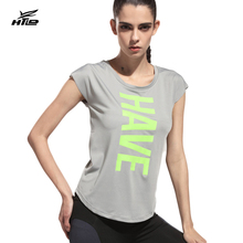 HTLD Quick dry Casual T shirt Women Harajuku Workout Blusa Ladies  Short Sleeve Vests Letter T Shirts Female Fitness Tee Tops 43