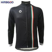 HIRBGOD Black Long Sleeve Cycling Jersey For Italy Spring Autumn Bicycle Clothes Shirt Italia Flag Type MTB Clothing China,HI246
