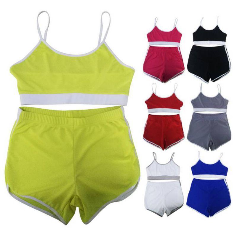 Sport Suit Tracksuit Bra+Short Sportswear 2