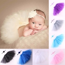 Puseky 2Pcs Newborn Baby Photography Props Newborn Handmade Crochet Cap Infant Girl Photo Props Tutu Dress With Headware 0-3M(China)