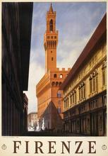 Firenze Italy City Travel Tour Landscape Poster Vintage Retro Decorative DIY Wall Stickers Home Posters Art Bar Decor
