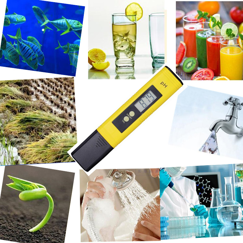 100pcs/lot Protable LCD Digital PH Meter Pen of Tester accuracy 0.01 Aquarium Pool Water Wine Urine automatic calibration %off 16