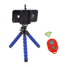 Mini Flexible Tripod Phone Holder Clip Bluetooth Remote Shutter for Gopro Hero 3 4 for iPhone 7 8 Huawei xiaomi mi5s Phone stand(China)