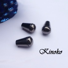 100pcs Pack Inner hole size 10mm*5mm Bell Stopper With Lid Cord Ends Lock Stopper Plastic Black Nickel Plated Toggle Clip#MB0065
