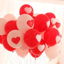 10pcs Lovely Round White Heart Balloons Valentines Red Latex Balloons Wedding Engagement Propose Marriage Balloon Decoration(China)