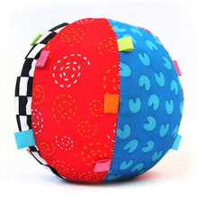 Colorful Baby Children's Ring Bell Ball Baby Toy Ball, Educational cotton Bell Ball Toys HT204