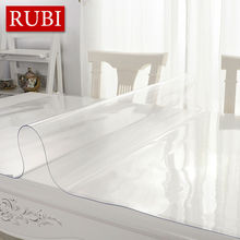 RUBIHOME transparency PVC tablecloth waterproof party wedding home kitchen dining placemat pad  thickness 1.0mm