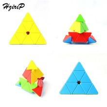 New Triangle Pyramid Strange-shape Magic Cube Puzzle Speed Colourful Classic Learning Education Toys For Children Free Shipping