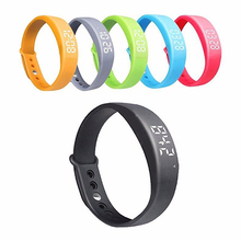2017 Hot Sale Colorful Women's Men's Silicone Smart Wrist Watch Pedometer W5 Steps Counter Calories Tracing Sports Bracelet Saat