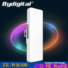 Bydigital 2.4GHz outdoor CPE 150Mbps long range Signal Booster WIFI extender 2-5k 15Dbi outdoor CPE WIFI repeater Support WDS