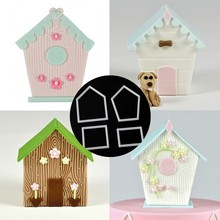 4PCS/SET More than a bird house Plastic Cake Decorating Mold Sugarcraft Mold Cookie Cutting