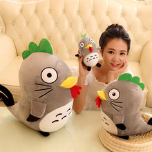 Candice guo! Rooster plush toy Chinese Zodiac funny chicken turned to Totoro superman American captain batman birthday gift 1pc(China)