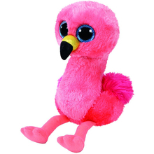 "Ty Beanie Boos 6"" 15cm Gilda the Flamingo Bird Plush Stuffed Animal Collectible Soft Big Eyes Plush Doll Toy"