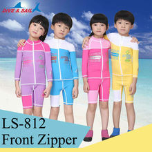 Children's Diving Skin Split Long Sleeve Shorts Pants Swim Surf Kids Stinger Body Suits UPF50+ uv Clothes Wetsuits Rash Guards(China)