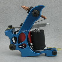 One Aluminum Alloy 10 Wrap Coils Tattoo Machine Gun For Kit Power Supply YAM03-C
