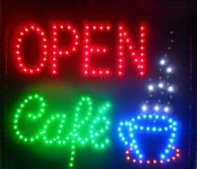 Animated LED NEON Motion Flash Open Sign CAFE OPEN For Business 48CM X48CM(China)