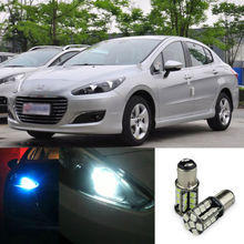 2pcs Advanced LED Width Lamps Car Wedge Warning Light Bulb For Peugeot 308