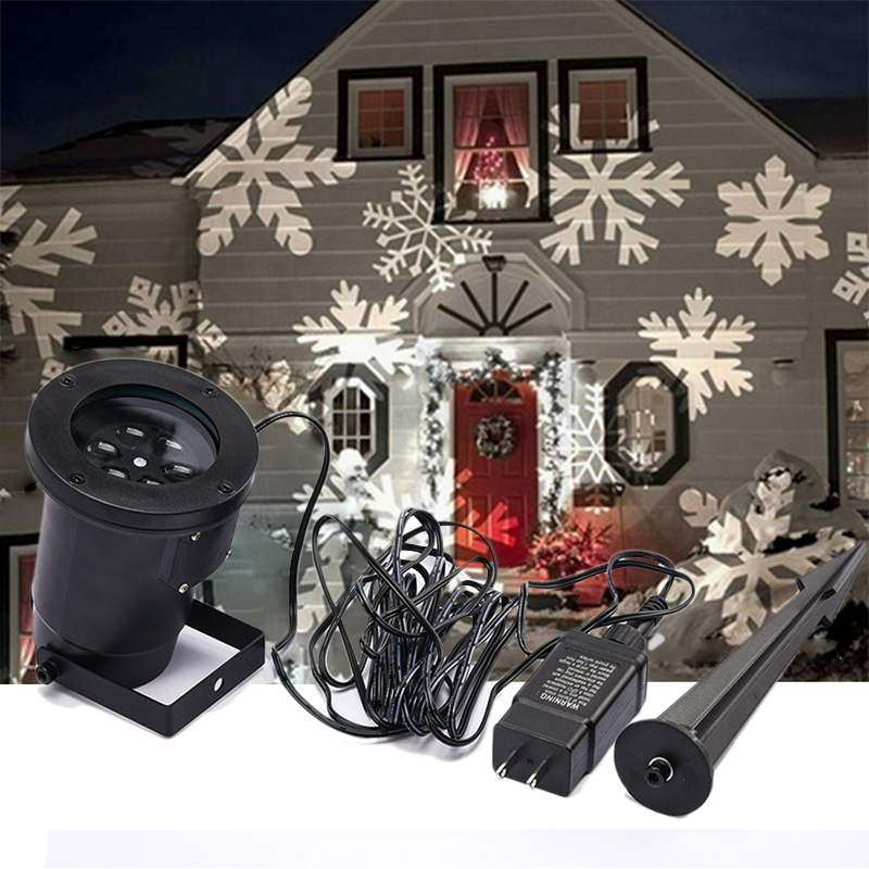Waterproof Moving Snow Laser Projector Lamps Snowflake LED Stage Light Christmas Party Bar Landscape Light Garden Lamp Outdoor<br>