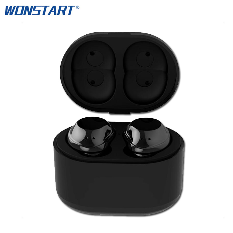 Wonstart TWS Bluetooth Earphones True Wireless Earbuds Mini Stereo Music Earphone Hands-free With Charging Box for iphone xiaomi<br>