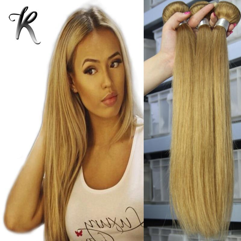 7A Honey Blonde Brazilian Straight Hair Bundles Rosa Hair Products 4pcs Lot Strawberry Blonde Straight Brazilian Virgin Hair<br><br>Aliexpress
