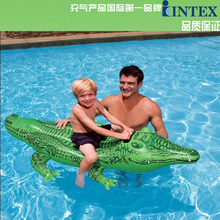 INTEX Swim Pool Funny Floats Toys Inflatable Mattress Crocodile Swim Rings Ring For Kids Swimming Pool Accessories(China)