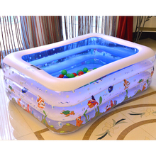 High Quality Children's Home Use Paddling Pool Large Size Inflatable Square Swimming Pool Heat Preservation Kids Paddling Pool