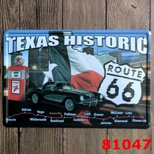 Texas Historic  Route 66  Painting Wall Bar Home Art Decor Cuadros  Mix Order 30X20CM A-81047