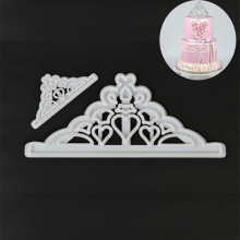 2PCS/SET Tiara/Crown Plastic Cake Decoration Sugarcraft Tool Cake Tool