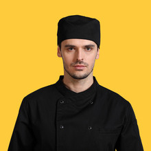 Chef Hat Cap quality waiters working hat for men and women in the kitchen fun chef toque classic flat caps free shipping