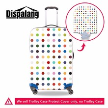 Dispalang colorful polka dot luggage protector beautician for trolley suitcase personalized waterproof travel suitcase cover