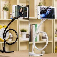 360 Rotating Flexible Long Arm Cell Phone Holder Stand Lazy Bed Desktop Tablet Selfie Mount Bracket For iphone For Samsung Etc.