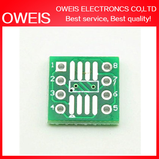 10PCS SO8 MSOP8 SOIC8 TSSOP8 SOP8 turn to DIP8 IC adapter Socket  plate PCB PB-FREE without Pin Header 12X12MM 1.27MM 0.65MM<br><br>Aliexpress